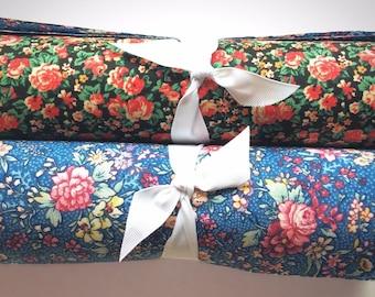 "Vintage Floral Shabby chic Darks precut 10"" layer cake 100% cotton fabric quilt"