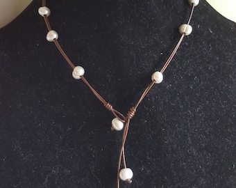 """The """"Sophia"""" is 3 different pearl necklaces in one!"""
