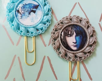 Game of Thrones Winter is Coming or Bran Stark planner paper clip