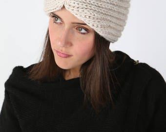 Womens Alpaca Headband, Made in Italy, Fantasie Terrene, Fascia Donna.