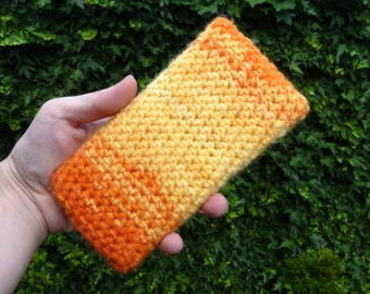 Crochet phone cover, colorful phone cozy, iphone 6 cozy, smartphone sleeve