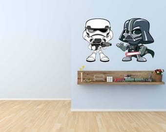 Darth Vader Decal, Star Wars Art Decor, Star Wars Decal,Sith Decal,Fathead Mural,Star Wars Kid's Room Designs,Storm Trooper,vinyl, Star Wars