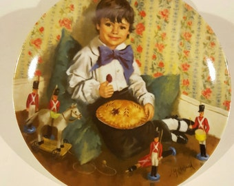 Little Jack Horner Collectible Plate Mother Goose Series