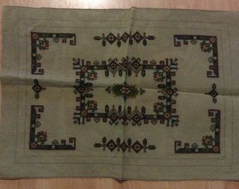 Large Pre-worked Geometric Needlepoint Canvas Arts & Craft Design