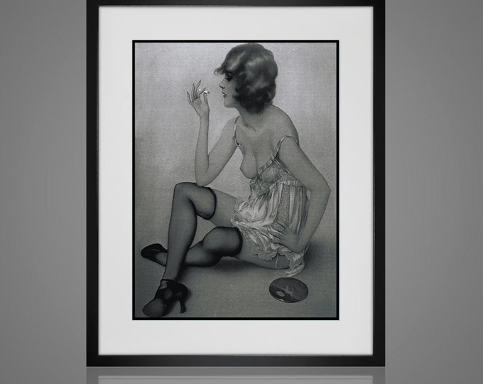 Framed Wall Art -RISQUE WALL ART - Free Shipping -  Framed And Matted - Available In 4 Sizes - Choose Black or Antique White Frames