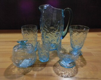 Bryce El Rancho Cerulean Blue 43 pc. Beverage Set