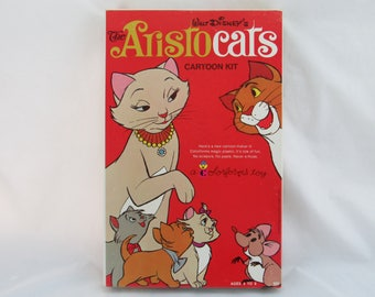 Disney The Aristocats Cartoon Kit Colorforms #560 Vintage Complete in Box  RARE
