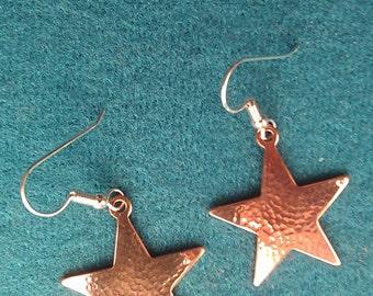 Copper Earrings hammered