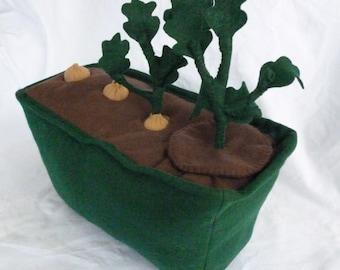 Felt Potato Garden, Life Cycle Toy, Educational Kids Gardening, Montessori Learning, Waldorf Nature Table
