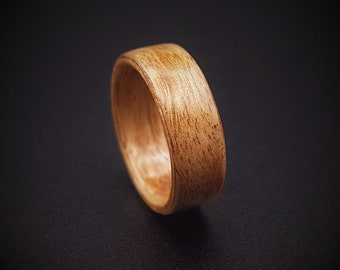 Wood Ring, Figured Eucalyptus Wooden Ring, wooden wedding ring, bentwood ring, women's wood ring, men's wood ring, anniversary ring