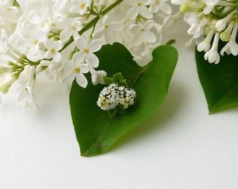 TO ORDER - A branch of white lilac 1/12 scale, dollhouse decor, dollhouse flowers, dollhouse miniatures
