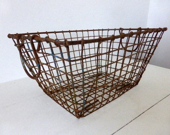 Antique French Oyster Basket