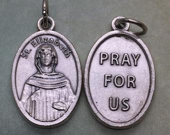 St. Elizabeth of the Visitation holy medal - Catholic saint - patron of pregnant women, expectant mothers