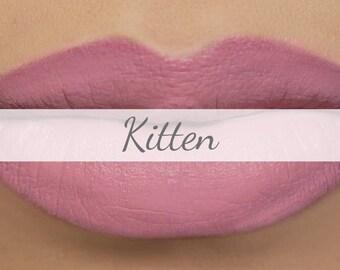 """Vegan Matte Lipstick Sample - """"Kitten"""" light pastel pink natural lipstick with organic ingredients"""