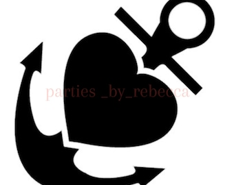 Anchor Heart SVG FIle