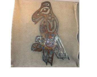 Raven Indian Art  - Metal art