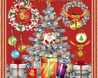 Time for Christmas - Christmas Holiday Images for Scrapbook & Paper Crafts