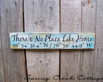 Custom Coordinates, Latitude & Longitude Signs, Signs, Lake, Cabin, Coordinates, Wood Signs, Handpainted, Personalized Signs