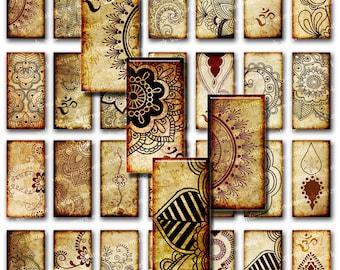 Oriental, Henna ,Mandala, Om ,Mehndi, Zen Yoga  - Downloadable images Digital Collage Sheet, Download for Resin PendanT (117)