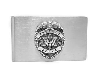 Law Enforcement Money Clip – Silver