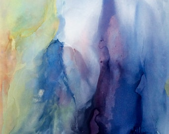 Angels / Alcohol Ink Painting / Abstract / Spiritual Painting / Hand-painted  Art Work / Healing Angels / Guardian Angel Painting