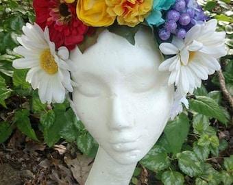 Rainbow Floral Headband