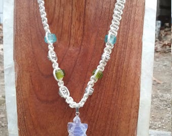 Opalite turtle necklace