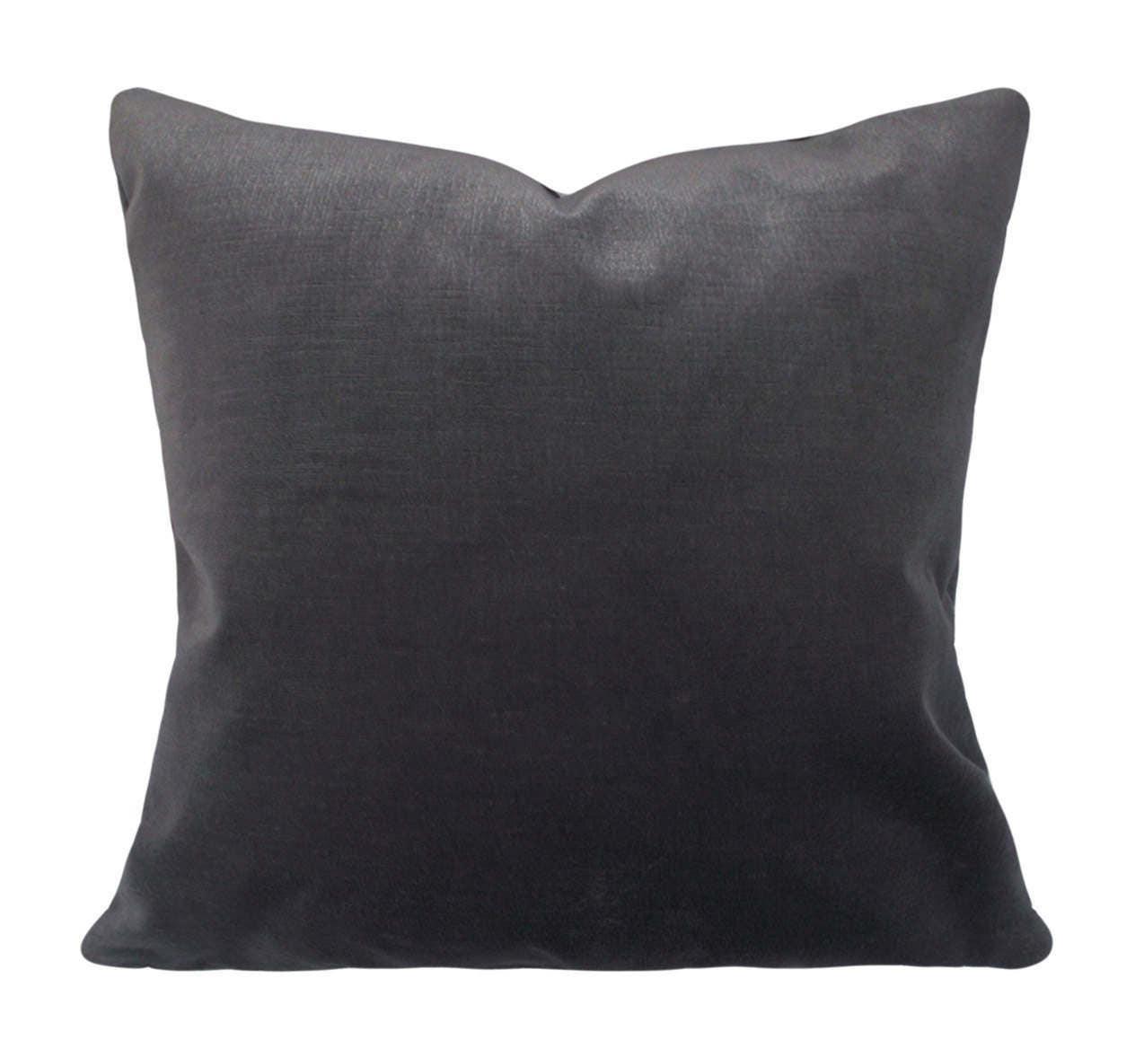Grey Velvet Pillow Cover Decorative Pillow Throw Pillow