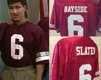AC Slater Bayside High School Jersey Saved By The Bell Football Mario Lopez