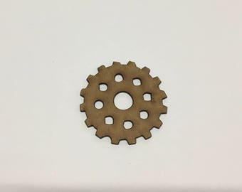 Steampunk Cogs Wooden MDF - 40mm 50mm - Decoration Card Making Craft - (13) - A11