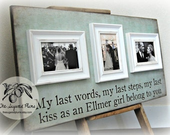 Personalized Picture Frame Custom 16x30 Anniversary Love Father of the Bride Mother of Bride The Sugared Plums