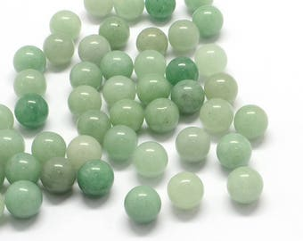AVENTURINE 10mm smooth natural stone - not DRILLED - ball