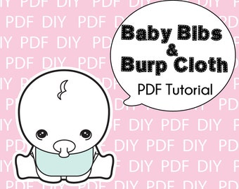 Baby Bibs and Burp Cloth Pattern-Printable PDF Download