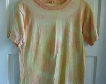 Vintage 60s TOWNCRAFT Tie Dye T Shirt sz XS