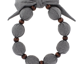 Beat Hot Flashes in Style! Nano-Ice Cooling Necklace - Solid Grey