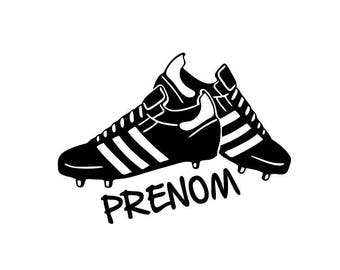 """Wall decals """"football name shoes"""""""