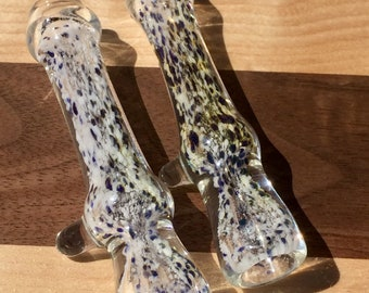 Pair of color changing glass chillums