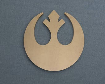 Rebel Alliance Logo, Wood Cutout, Unfinished Sign