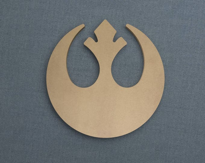 Featured listing image: Rebel Alliance Logo, Wood Cutout, Unfinished Sign