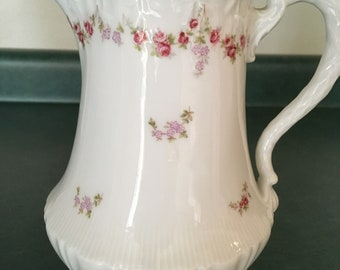 White and Floral China Teapot
