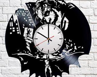 Joker DC Comics Vinyl Record Wall Clock Fun gift Unique Home Decor