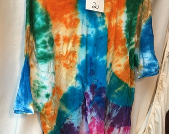 Tie Dyed T-Shirt Adult 2X  (A2x-2)