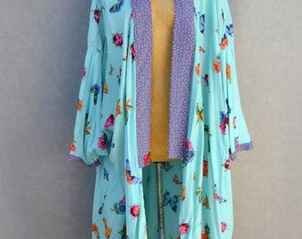 Kimono with Insect Print