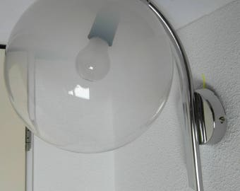 Targetti Sankey design wall light with crystal ball on chrome. Italiaanse vintage from the '60.