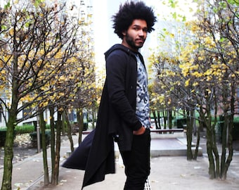 Junq Couture Qetesh Cape Style Black Hoody