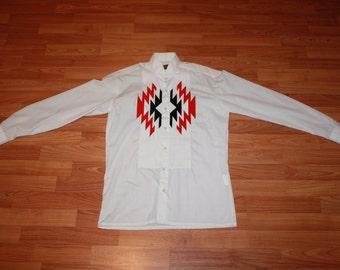 Aztec Pattern Dress Shirt