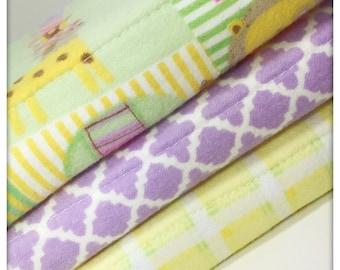 Lion and giraffe plaid Burp cloth set- Burp cloth- Burp rag- Nursery- Baby shower- Baby Gift