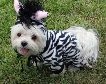 Dog Costume, Halloween Costume for Small Dog, pet Costume, Halloween Party Costume, Animal Costume, Zebra
