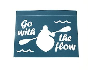 Kayak Sticker - Kayak Decal - Kayaking Car Decal - Kayaking Sticker - Kayak Bumper Sticker - Kayaking Decal -Whitewater Kayaking Gifts