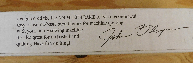 Flynn Multi-Frame Quilting System new in box